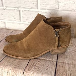 Steve Madden Suede Booties Size 6.5 Leather Brown